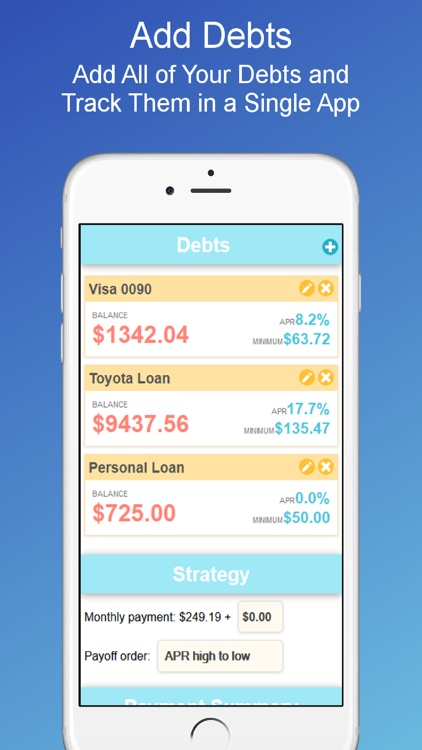 Debt Payoff Planner and Calculator by OxbowSoft LLC – Debt Payoff Calculator