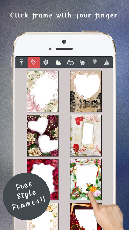 Photo Frame Editor : Glass, Nature, Wedding, Diomond and more ...
