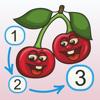 Frutos - conecta los puntos y añade colores
