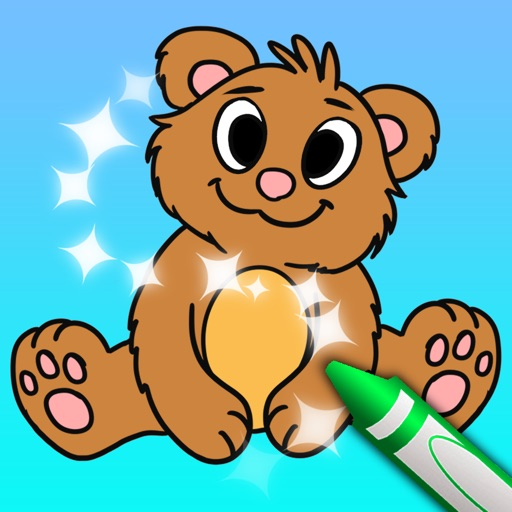 Sparkling Color Book - Coloring Pages for Boys and Girls Icon