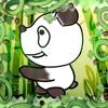 Springen Panda-Baum-Bergsteiger