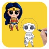 How to Draw Super Heroes Cute and Easy for iPad
