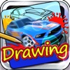 Drawing Desk Car : Draw and Paint Hot Wheels on Coloring Book For Kids