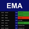Flight Board - East Midlands Airport (EMA)