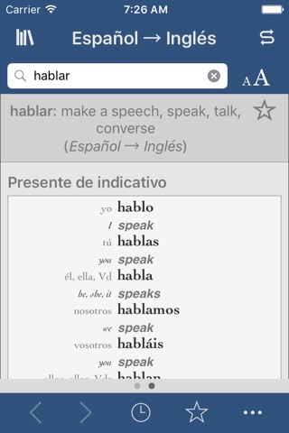 Spanish-English Translation Dictionary and Verbs screenshot 2