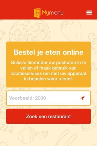 MyMenu.be | Online Eten Bestellen - Pizza Bestellen screenshot 2