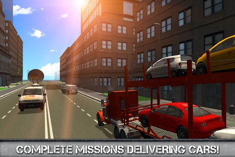 Car Transporter Driving Simulator 3D Full screenshot 3