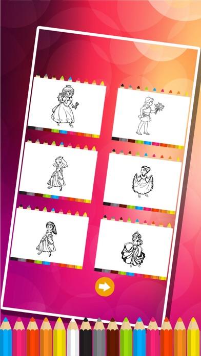 princesse des pages à colorier - Jeux de peinture pour les enfantsCapture d'écran de 5