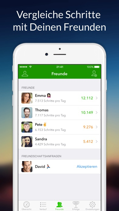 Stepz - Schrittzähler Screenshot