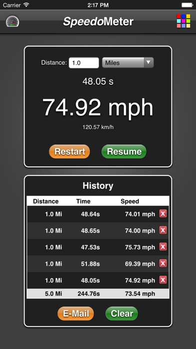 Speedometer App screenshot one