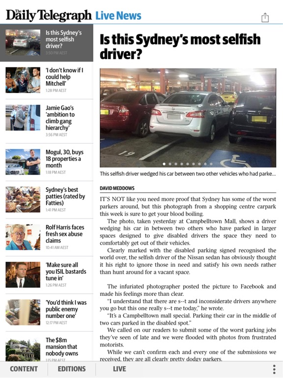 The Daily Telegraph Edition Screenshot