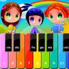 Pianinko HD - nauka grania przedszkolnych, dziecięcych piosenek, kołysanek z kolorowych plansz z nutkami