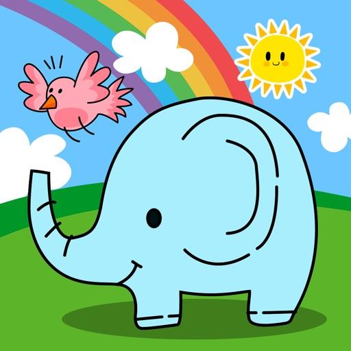 动物声音游戏(婴幼儿简笔画游戏)-小黄鸭亲子早教