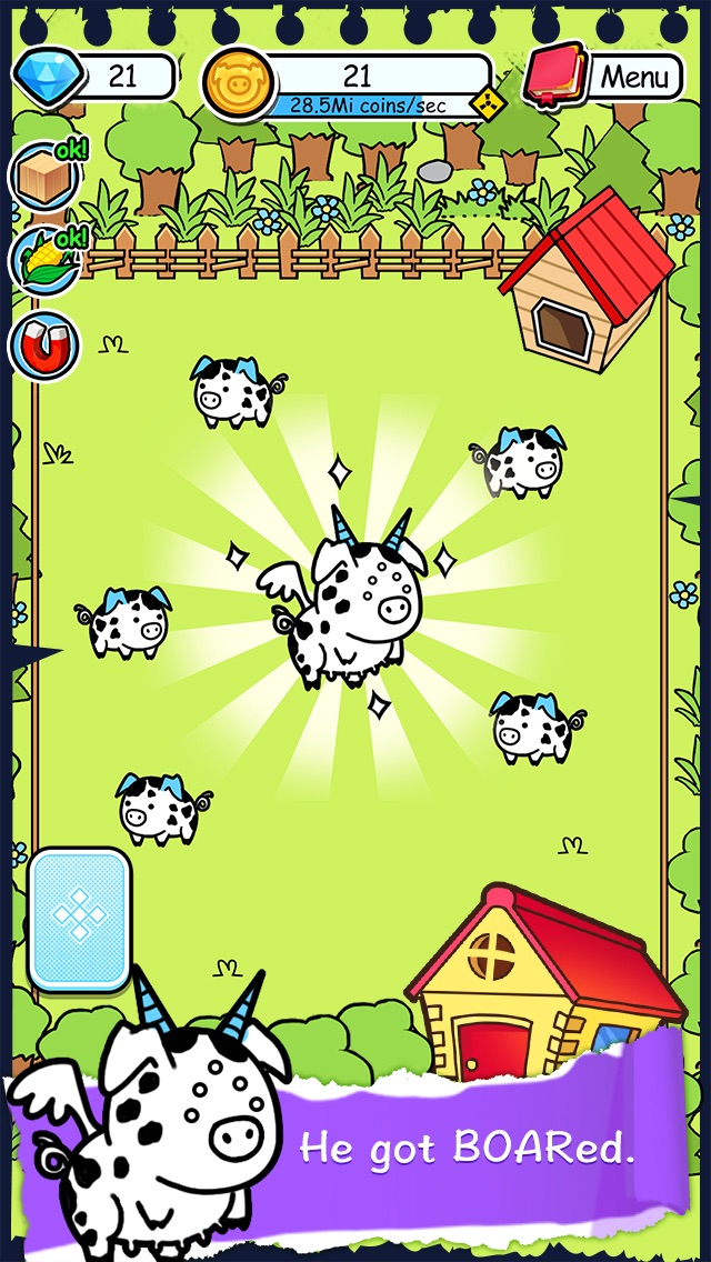 Screenshots of Pig Evolution - Tap Coins of the Piggies Mutant Tapper & Clicker Game for iPhone