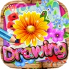 Drawing Desk Flowers : Draw and Paint Coloring Book Edition Free
