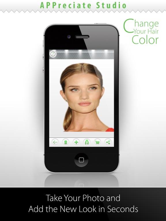 Haarfarbe andern app android