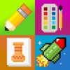 Pixel draw - Coloring & pixel art tool cool painting game for kids