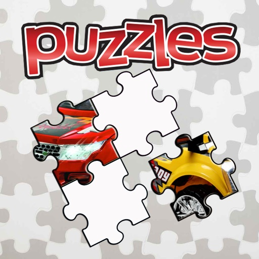 Toy Cars Cartoon Jigsaw Puzzle Kids Game Icon