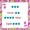 Fewer, more and equal