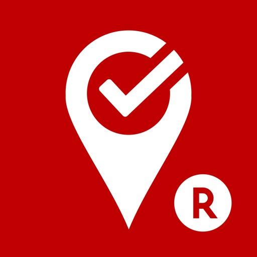 楽天チェック:来店するだけで楽天スーパーポイントが貯まる無料アプリ