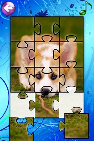 Puppies Jigsaw Puzzle Games for Girls & Boys with Baby Pet Dog who Loves Animal Puzzles & Pictures for Kids HD screenshot 4