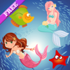 Mermaid Puzzles for Toddlers and Little Princesses - Princess of the Sea ! FREE app