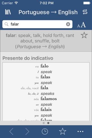 Portuguese-English Translation Dictionary and Verbs screenshot 2