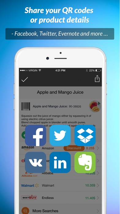 iScan QR PRO – instant QR & Barcode reader and discounter Screenshot