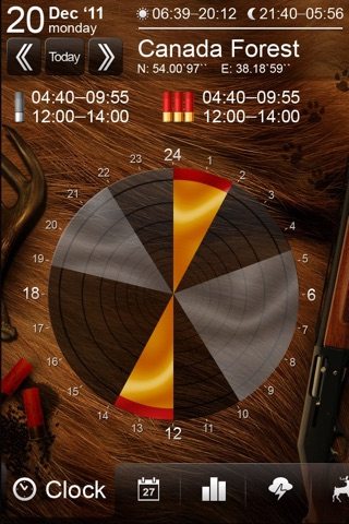 Solunar Calendar - Best Hunting Times and Feeding screenshot 1