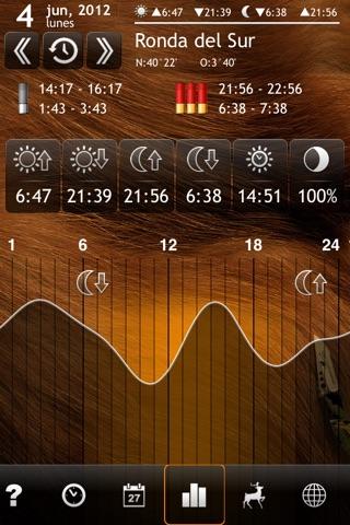 Solunar Calendar - Best Hunting Times and Feeding screenshot 3