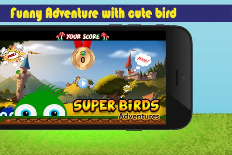 Super Birds Adventures - Birdy Crossing Block screenshot 1