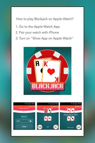 Blackjack for Apple Watch screenshot 3
