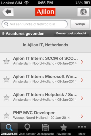 Ajilon Nederland screenshot 3
