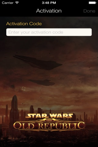 Star Wars: The Old Republic Security Key screenshot 1