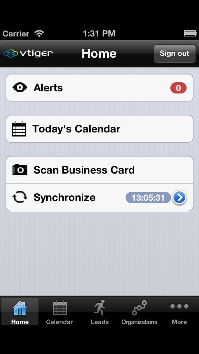 Vtiger CRM for iPhoneスクリーンショット