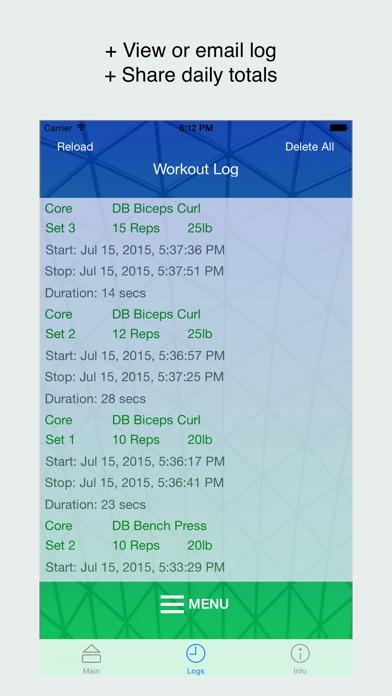 WorkoutTracker - Custom Fitness Log Screenshot
