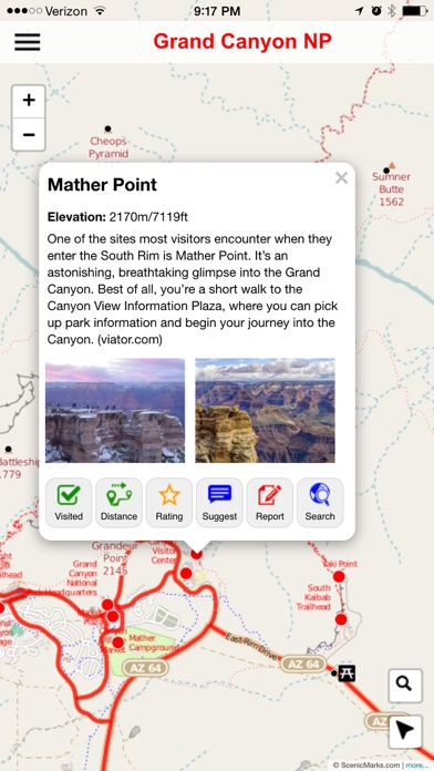 download Grand Canyon National Park POI Map apps 2