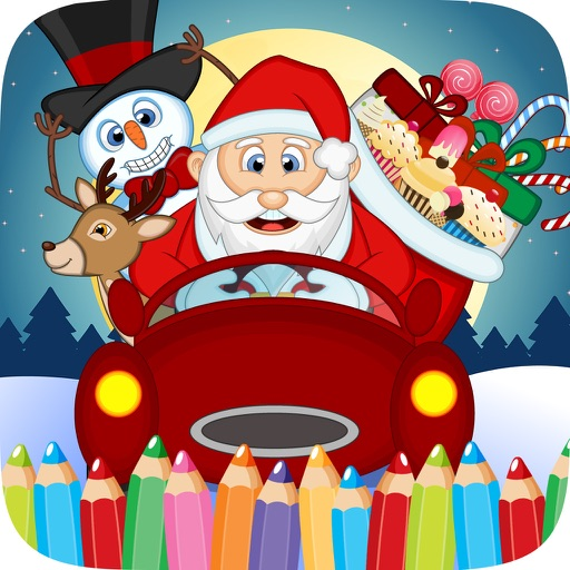 Christmast Colorbook Educational Coloring Game for Kids iOS App