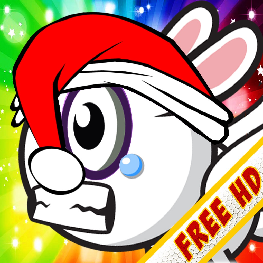 Aaah! It's Flappy the Crazy Rabbit Vs Angry Clumsy Bombs! Christmas HD Free Edition