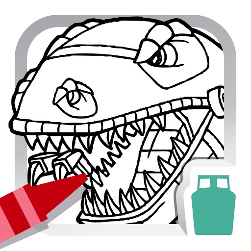 Dino Robot Coloring Book for Kids - Free Fun Painting Games