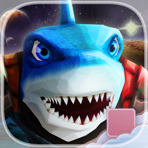 Attack of The Galactic Bite Shark - FREE - Sci-Fi Planet Endless Runner Game iOS App