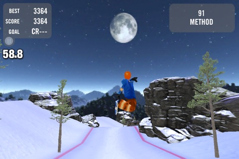 Crazy Snowboard Free screenshot 2
