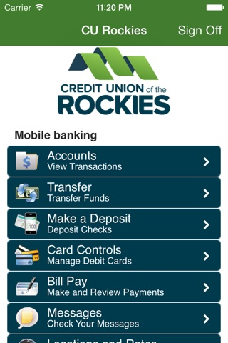Credit Union of the Rockies Mobile Banking screenshot 2