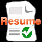 resume builder view in mac app store
