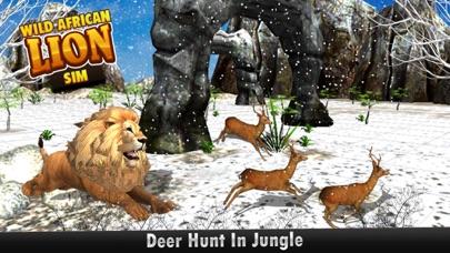 download African Wild Lion Sim 3D - réel Safari roi chasse au cerf sur les montagnes de neige en hiver apps 2