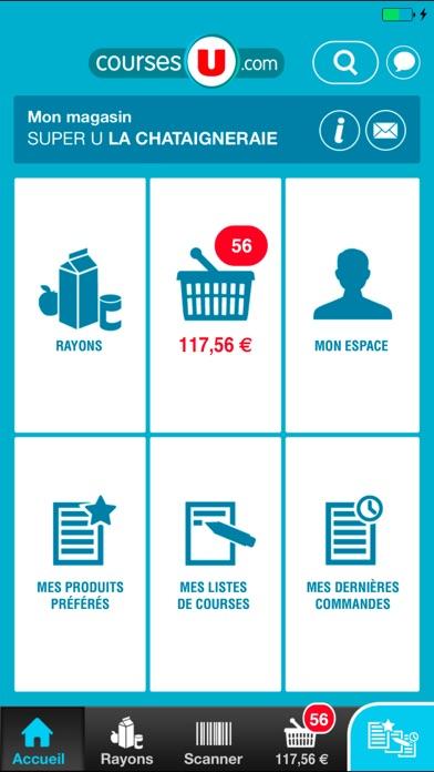 Connu Courses U vos courses en ligne dans l'App Store BA03