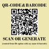QR-Code and Barcode Scanner & Generator with Control from file option