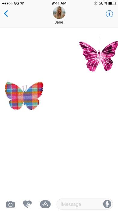 Две бабочки стикер Pack!Скриншоты 2