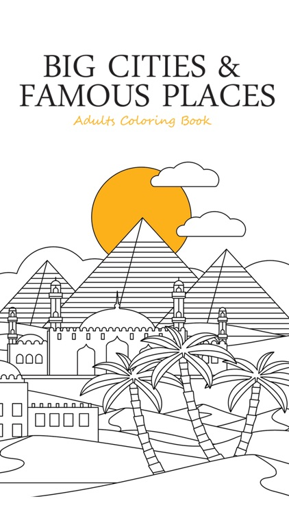 Big Cities Famous Places Adults Coloring Book Screenshot 4