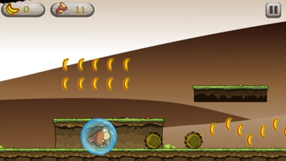 Screenshot of monkey speed to fast  eat banana in jungle1